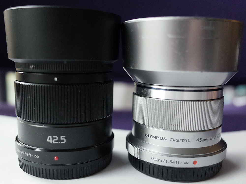 Panasonic 1.7/42.5mm vs Olympus 1.8/45mm